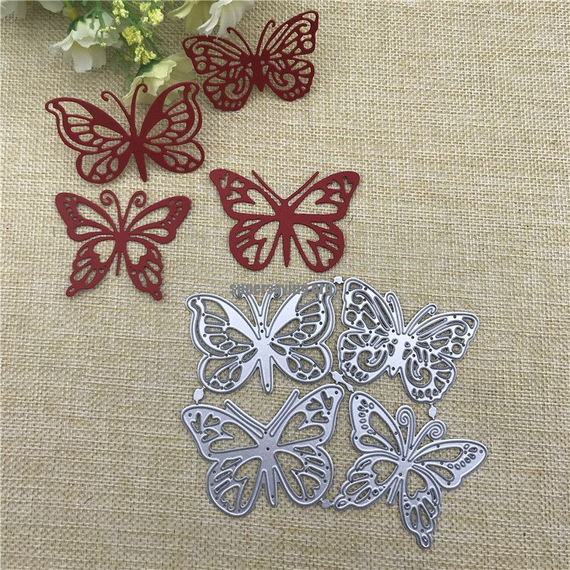 4pcs butterfly Metal Cutting Dies for DIY Scrapbooking Album Paper Cards Decorative Crafts Embossing Die Cuts