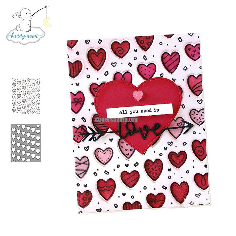 CH Loved Background Metal Cutting Dies and stamps DIY Scrapbooking Card Stencil Paper Handmade Album Wedding Decor
