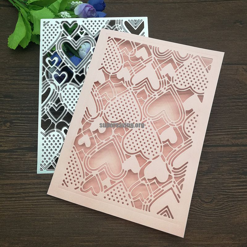 Heart card decoration Metal Cutting Dies for DIY Scrapbooking Album Paper Cards Decorative Crafts Embossing Die Cuts