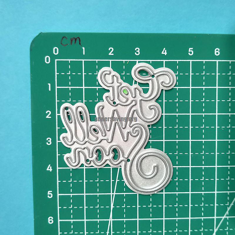 Get Well Soon Metal Cutting Dies Word Die Stencils for Card Making Scrapbooking DIY Album Decoration Embossing Craft Dies