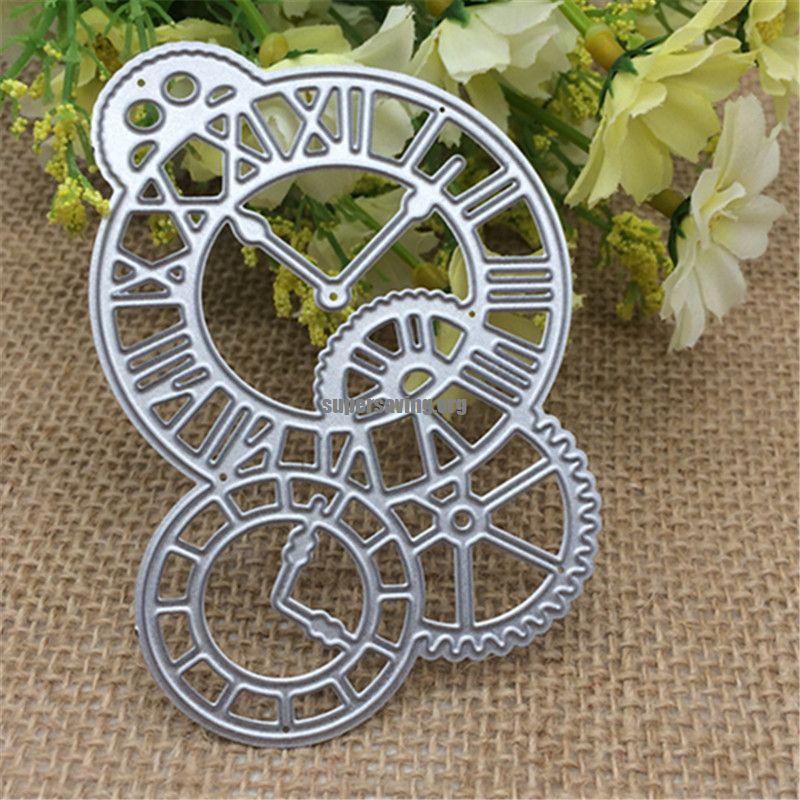 Clock Time Axis Metal Cutting Dies Stencil Scrapbooking Photo Album Card Paper Embossing Craft DIY