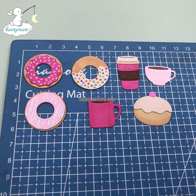 Bunnymoon Donuts Stencil Metal Cutting Dies For Scrapbooking Practice Hands on DIY Album Card Handmade Tools