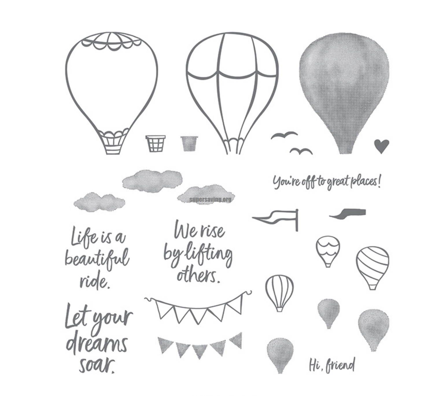 air balloon stamps and dies set 2020 clear stamp Scrapbooking & Stamping DIY album rubber metal cutting dies gift card stencil