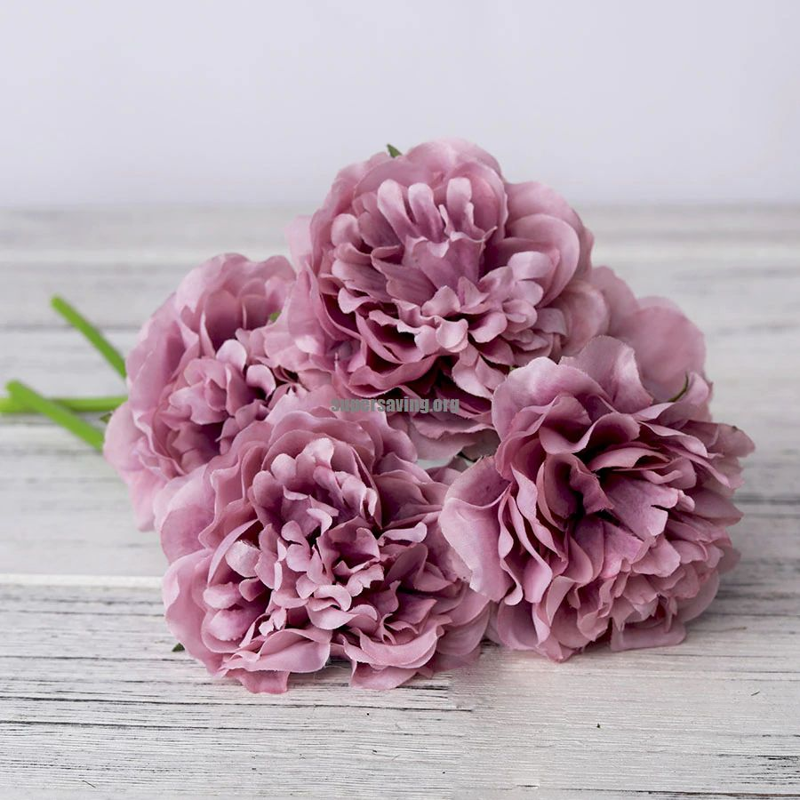 1 Bouquet 5 Heads Artificial Silk Peony Flowers High Quality Fake Flowers Hydrangea for Home Wedding Party Valentines day Decor