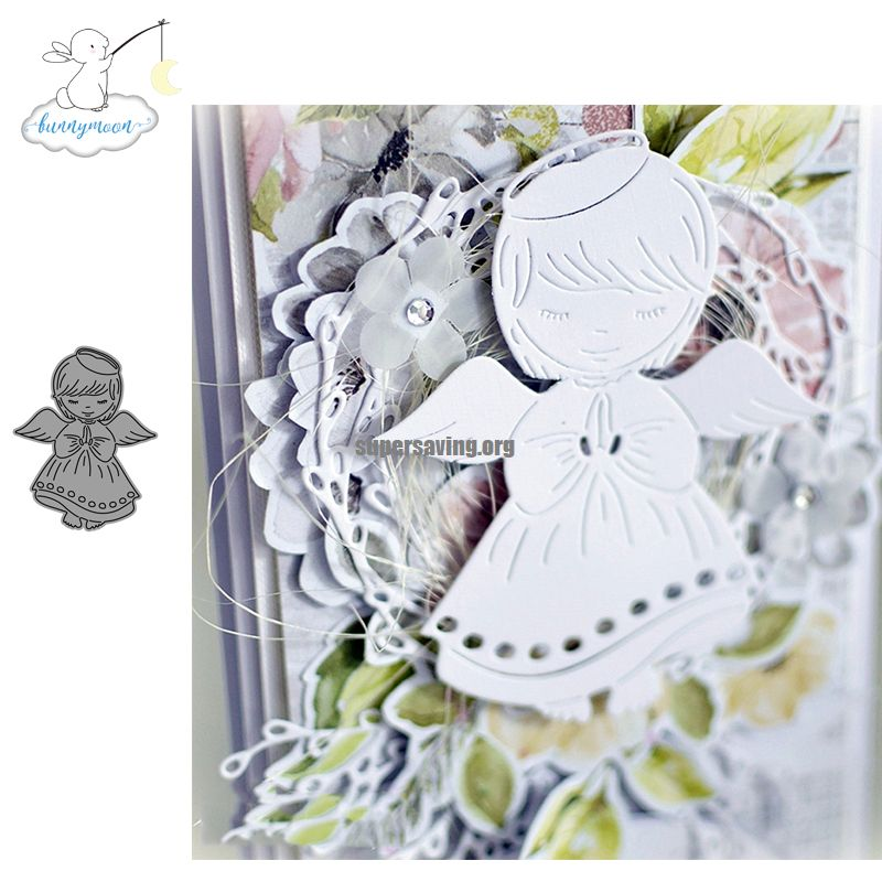 CH Angle Girl Stencil Metal Cutting Dies For Scrapbooking Practice Hands on DIY Album Card Craft Decoration