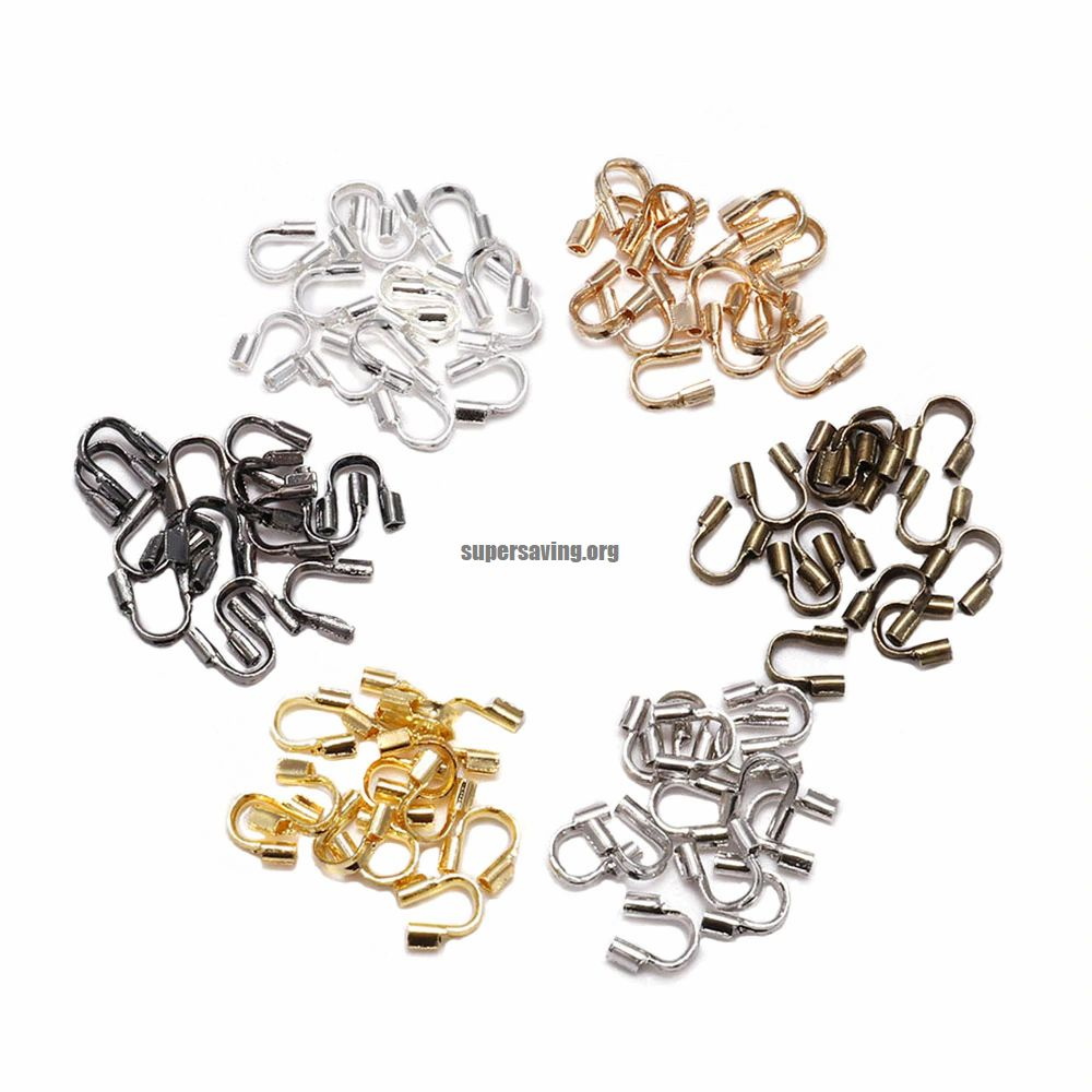 100pcs lot 4.5x4mm Wire Protectors Wire Guard Guardian Protectors loops U Shape Accessories Clasps Connector For Jewelry Making
