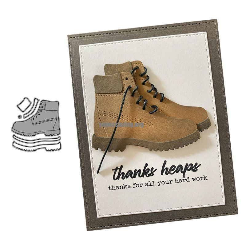 CH Martin boots Stencils For DIY Scrapbooking Embossing Paper Wedding Cards Die Cuts Photo Album Making Craft