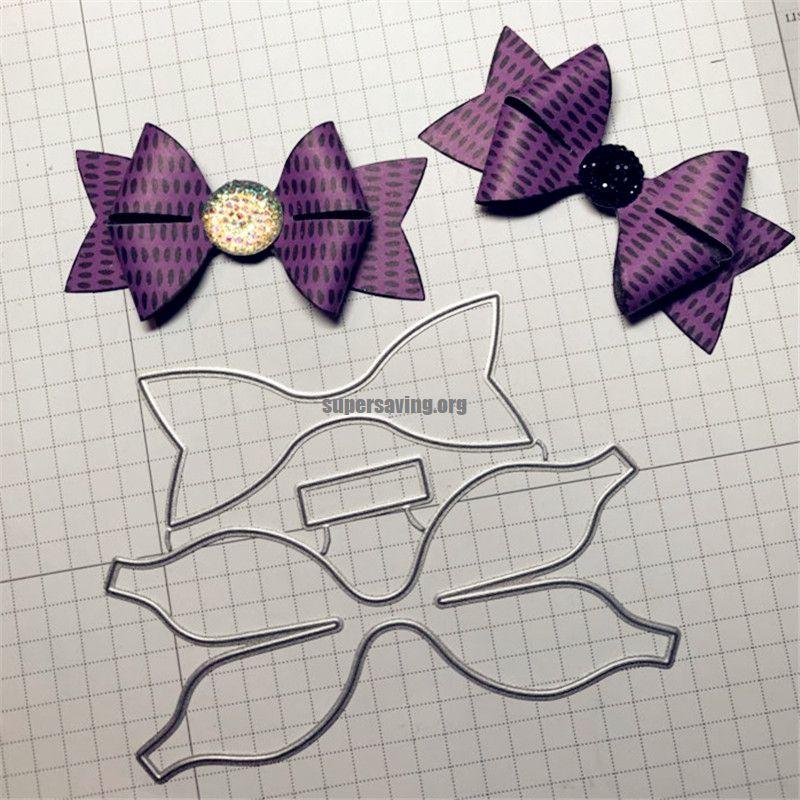 Building a bow Metal Cutting Dies Decorative Scrapbooking Steel Craft Die Cut Embossing Paper Cards Stencils