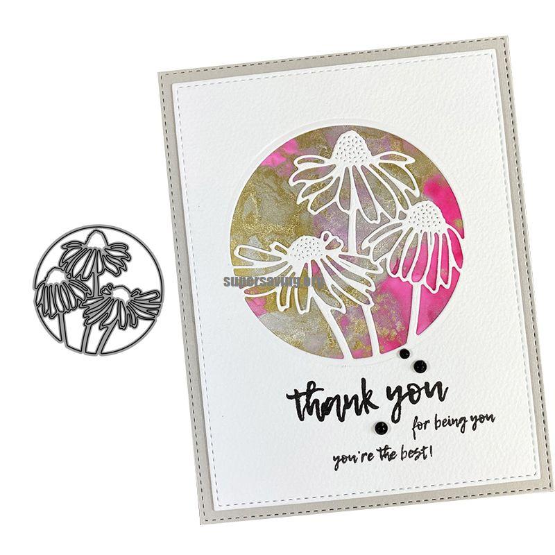 CH Thank You Flower Metal Cutting Dies Stencil New 2020 for DIY Scrapbooking Craft dies Cut Decor Photo Cards