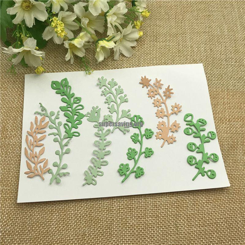 8pcs Leaves lace Metal Cutting Dies Craft Stamps die Cut Embossing Card Make Stencil