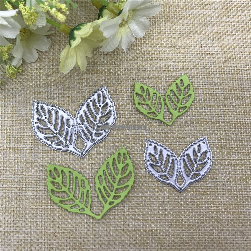 2pcs leaf decoration Metal Cutting Dies Stencil Scrapbooking Photo Album Card Paper Embossing Craft DIY