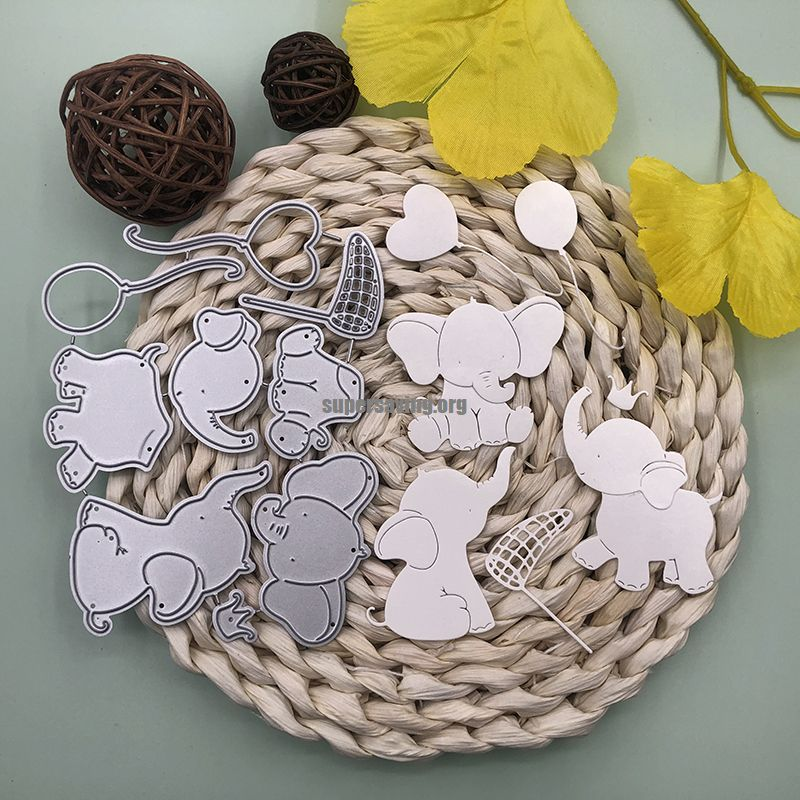 Bunnymoon Lovely Elephant Metal Cutting Dies Stencils for DIY Scrapbooking photo Album stamps Decorative Embossing DIY Paper