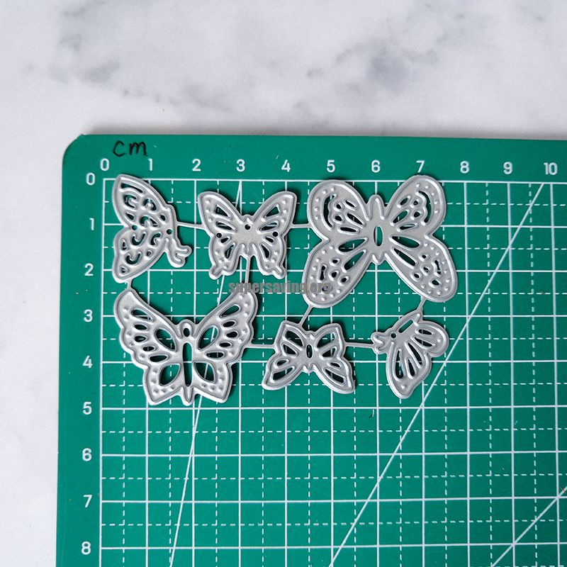 6 Pieces Butterfly Craft Dies Metal Cutting Dies New 2019 Embossing Stencils for Scrapbooking Album for Card Making Decoration