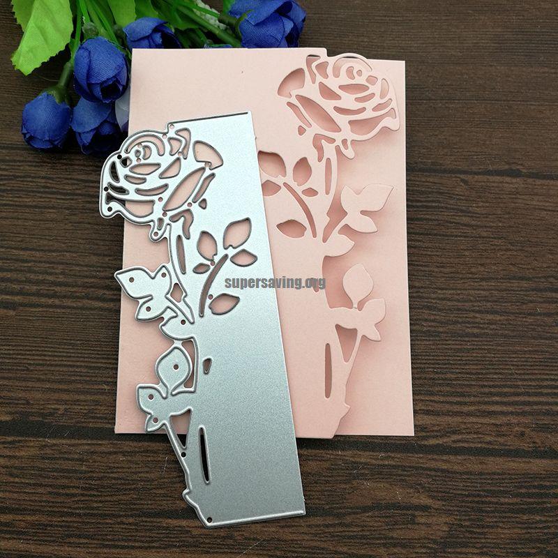 Rose Leaves border Metal Cutting Dies Stencils Die Cut for DIY Scrapbooking Album Paper Card Embossing