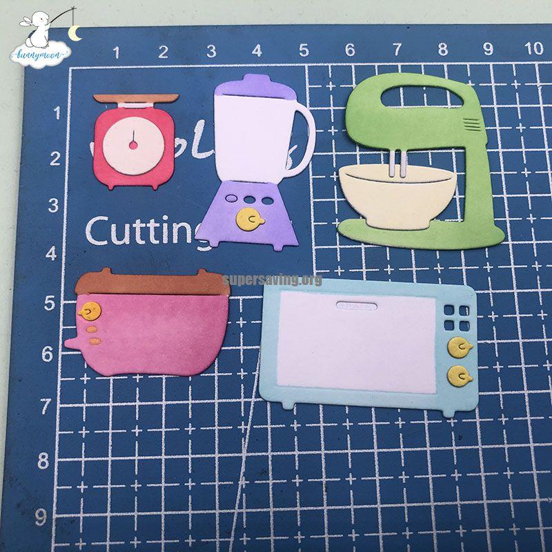 Bunnymoon Kitchenware Metal Cutting Dies Stencils for DIY Scrapbooking photo Album stamps Decorative Embossing DIY Paper