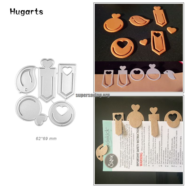 Lovely Label Dies Cut Heart Tag Metal Cutting Dies for Scrapbooking Decoration Carbon Steel Die Cutter