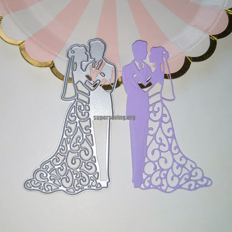 Lovers Die Cut Couple Metal Cutting Dies Scrapbooking Album Wedding Craft Dies for Card Making Decoration Embossing
