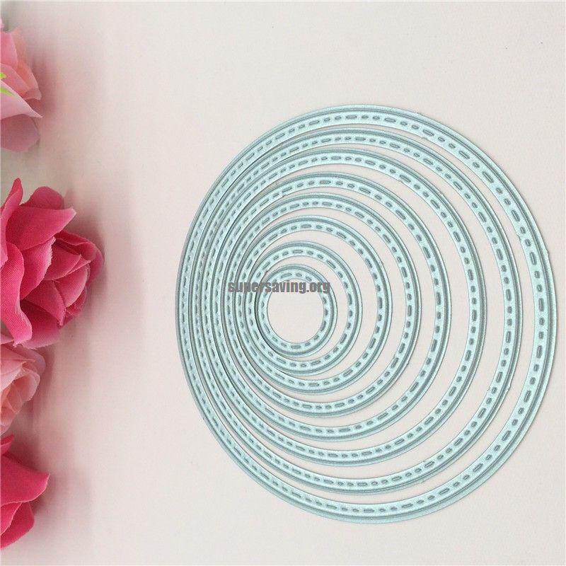 8pcs Circles Cutting Nesting Dies Stencil Scrapbooking Paper Card Craft DIY Gift