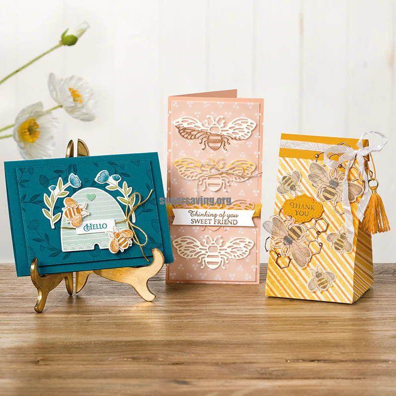 Honey bee stamps and dies set 2020 clear stamp Scrapbooking & Stamping DIY album rubber metal cutting dies embossing gift card
