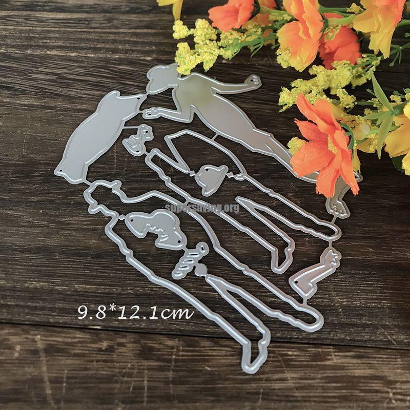 Lady Gentlemen Metal Die Cuts for Card Making Cutting Dies 2019 for Scrapbooking Album Decorative Embossing New Craft Dies