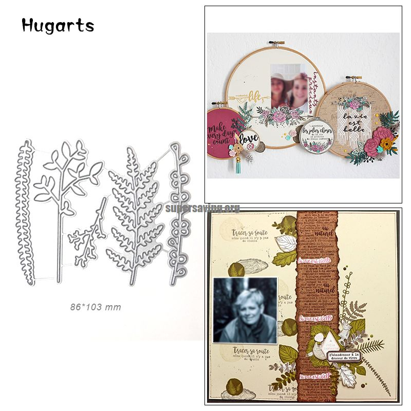 4 Pcs set Leaves Metal Cutting Dies for Cards Making Craft Dies Cut Photo Album Home Decoration Embossing