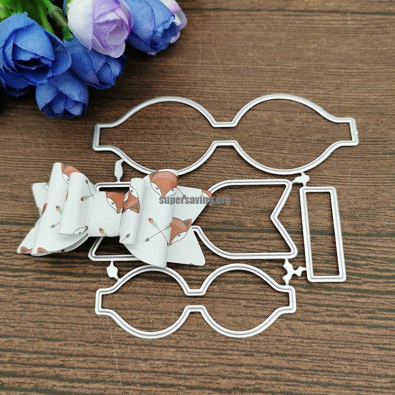 Beautiful Bow Metal Cutting Dies Craft Stamps die Cut Embossing Card Make Stencil Frame
