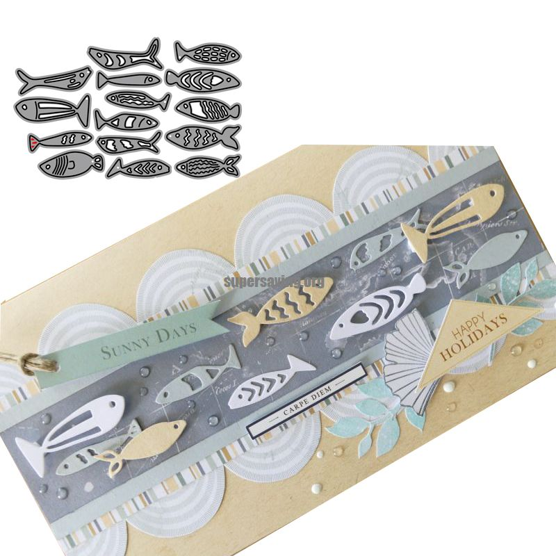 2019 New Arrival Kinds of Fishes Stencil Metal Cutting Dies For Scrapbooking Practice Hands on DIY Album Card Handmade Tools