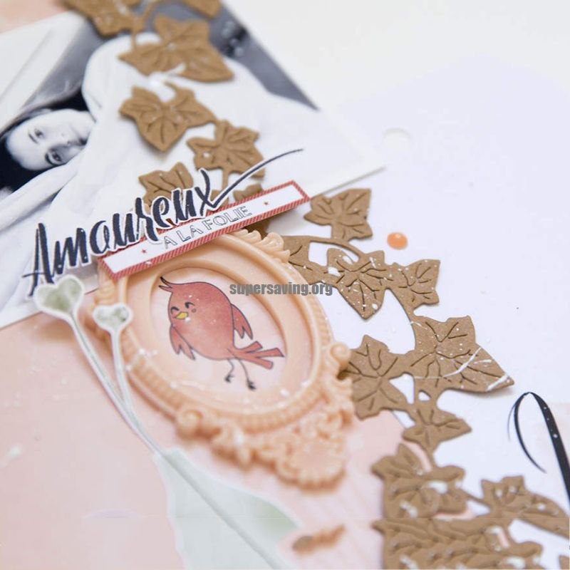 CH Vine leaves Metal Cutting Dies Stencils for Scrapbooking photo Album stamps Decorative Embossing DIY Cards