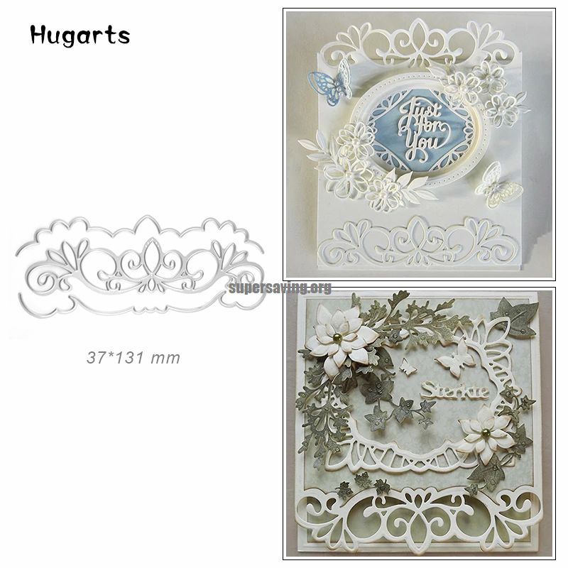Wedding Metal Cutting Dies New 2019 Huge Wave Edge Scrapbooking Dies Cut for Card Making Craft Border Dies