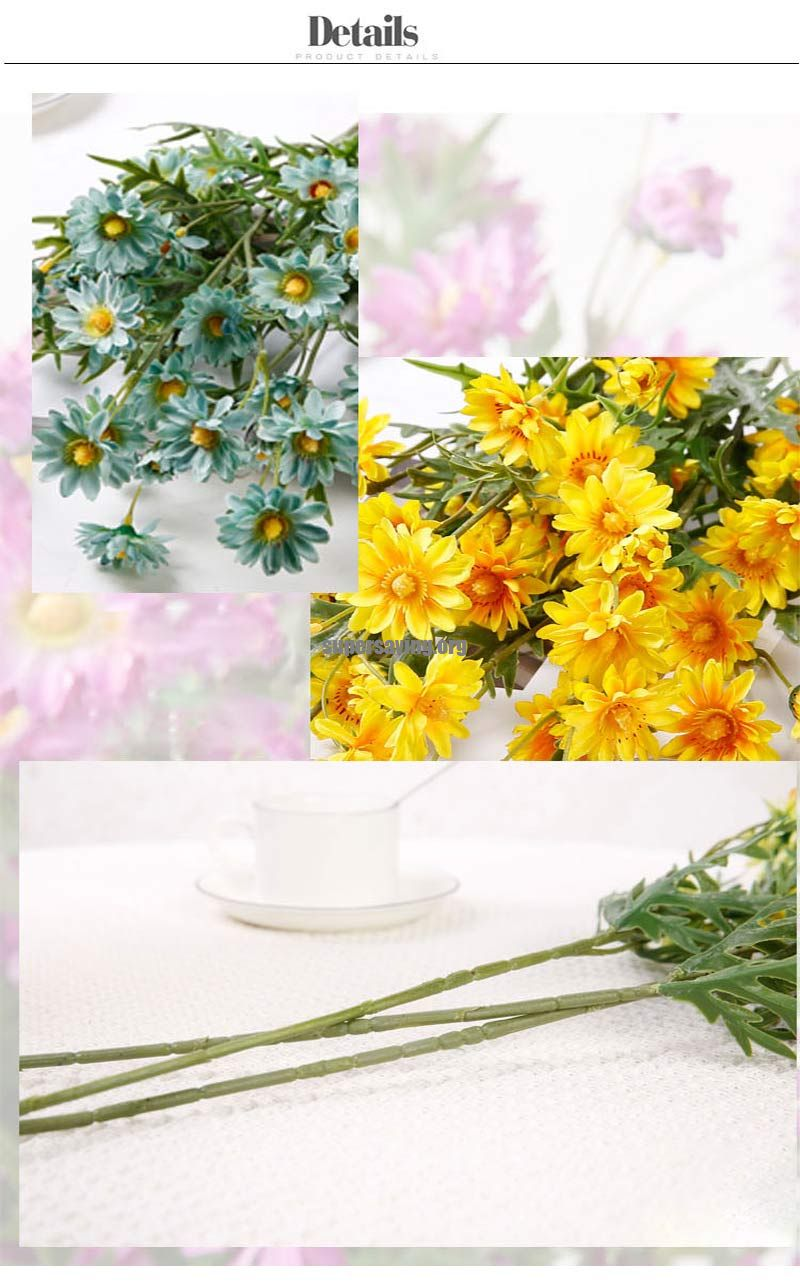 75cm Long stem Yellow Daisy Flowers Artificial Decoration for Home Table Chrysanthemum Faux Silk Flower Garden Crafts