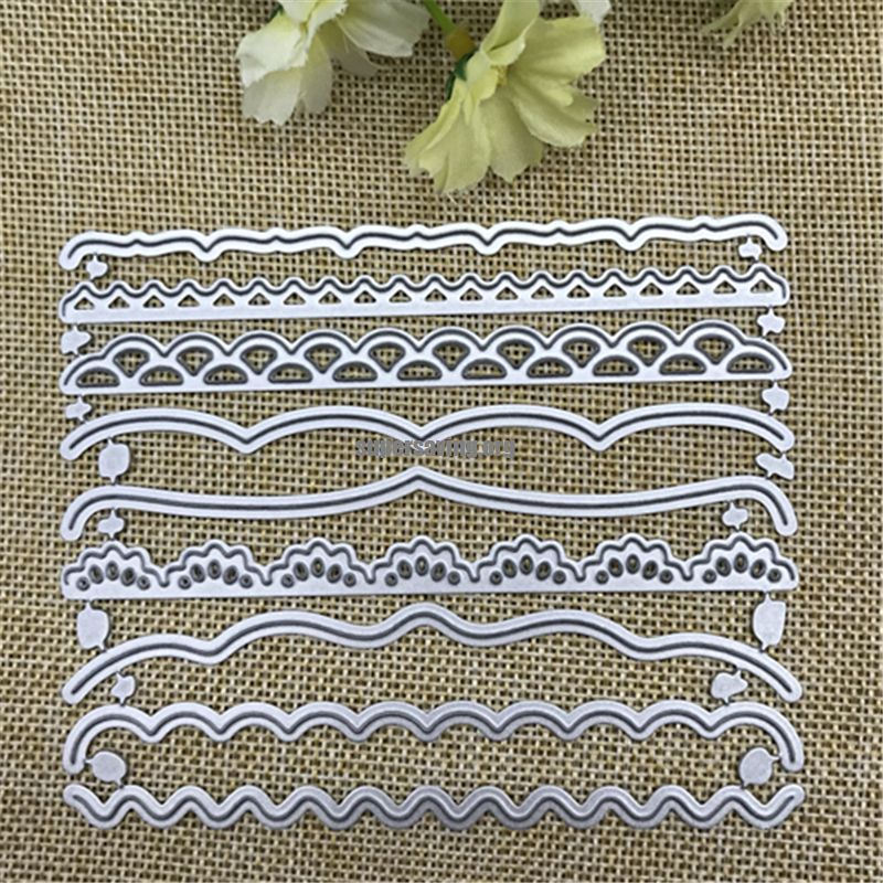 9pcs Set Decorative Cards Metal Cutting Dies Stencils for DIY Scrapbooking photo album Decorative Embossing DIY Paper Cards