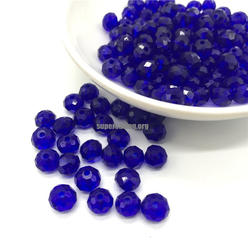 Multiple colors 4x6mm/6x8mm Circular Austria faceted Crystal Glass Beads Loose Spacer Round Beads for Jewelry Making-in Beads from Jewelry & Accessories